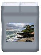 Ke Lei Mai La O Paako Oneloa Puu Olai Makena Maui Hawaii Duvet Cover by Sharon Mau