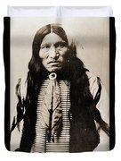 Kicking Bear Indian Chief Duvet Cover
