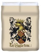King Of England Coat Of Arms - Livro Do Armeiro-mor Duvet Cover by Serge Averbukh