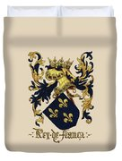 King Of France Coat Of Arms - Livro Do Armeiro-mor  Duvet Cover by Serge Averbukh