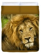 King Of The Savanna Duvet Cover