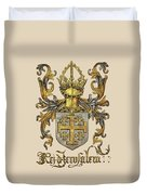 Kingdom Of Jerusalem Coat Of Arms - Livro Do Armeiro-mor Duvet Cover by Serge Averbukh