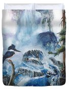 Kingfisher's Realm Duvet Cover