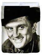 Kirk Douglas, Vintage Actor Duvet Cover