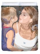 Kissing Mommy2 Duvet Cover