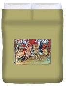 Knights In Tournament Duvet Cover