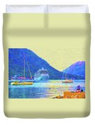 Kotor Harbor Duvet Cover