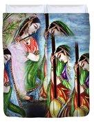 Krishna Prayer  Duvet Cover