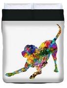Labrador Retriever-colorful Duvet Cover