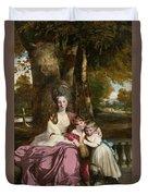 Lady Elizabeth Delme And Her Children Duvet Cover
