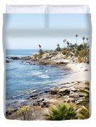 Laguna Beach California Duvet Cover