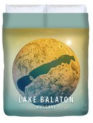 Lake Balaton 3d Little Planet 360-degree Sphere Panorama Duvet Cover