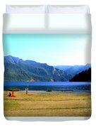 Lake Crescent Wa Duvet Cover