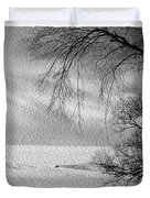 Lake Erie In Winter Duvet Cover