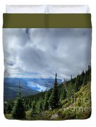 Lake Mcdonald From Mt Brown Trail - Glacier National Park Duvet Cover