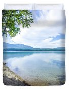 Lake Mcdonald In Glacier National Park Montanaa Duvet Cover