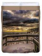 Lake Mi Sunset 5 Duvet Cover