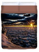Lake Mi Sunset 8 Duvet Cover
