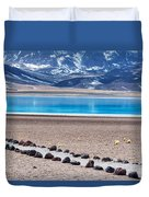 Lake Miscanti In Chile Duvet Cover
