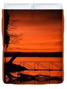 Orange You Glad I Took This Shot Duvet Cover