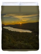 Lake Of The Clouds Sunrise Duvet Cover