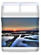 Lake Poygan Sunset Duvet Cover