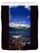 Lake Sherburne, Glacier National Park Duvet Cover