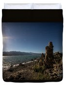 Lakefront And Sunset At Mono Lake, Eastern Sierra, California, U Duvet Cover