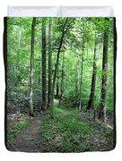 Lakeside Trail Winding Path - Yellowwood Lake Duvet Cover