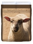 Lamb Looking Cute. Duvet Cover