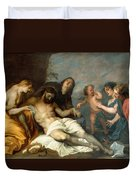 Lamentation Over The Dead Christ Duvet Cover