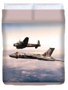 Lancaster And Vulcan Duvet Cover