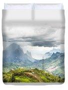 Landscape Around Kasi In North Laos Duvet Cover