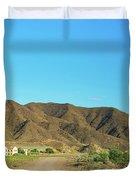 Landscape Desert In Almeria, Andalusia, Spain Duvet Cover