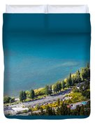 Landscape Of Lake In The South Island, Queenstown New Zealand  Duvet Cover
