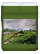 Landscape Sketching Duvet Cover