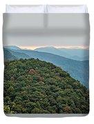 Landscape View At Cedar Mountain Overlook Duvet Cover