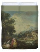 Landscape With A Group Of Figures Duvet Cover