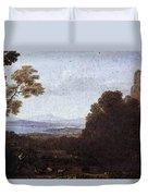 Landscape With Apollo And Mercury  Duvet Cover