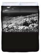 Landscape With Hydrangeas Duvet Cover