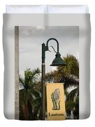 Lantana Lamp Post Duvet Cover