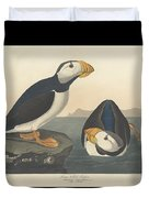 Large-billed Puffin Duvet Cover