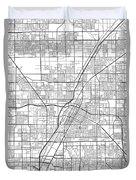 Las Vegas Nevada Usa Light Map Duvet Cover