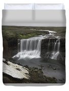 Laugafell Mountain Lodge Waterfalls 3133 Duvet Cover