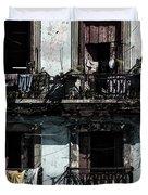 Laundry Day In Havana Duvet Cover