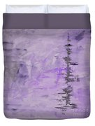 Lavender Gray Abstract Duvet Cover