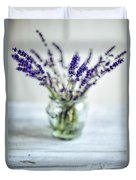 Lavender Still Life Duvet Cover by Nailia Schwarz