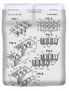 Lego Toy Building Brick Patent  Duvet Cover