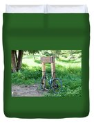 Leisure Cross Contry Cyclists Duvet Cover