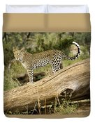 Leopard In The Forest Duvet Cover